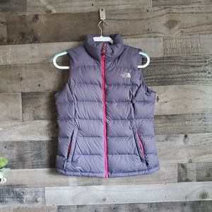 The North Face 700 Down Puffer Vest Lavender Small